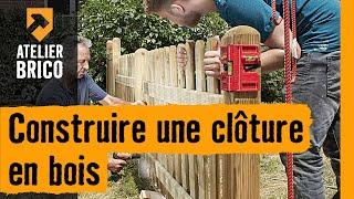 construire une cloture en bois