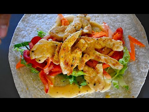 Healthy Cajun Chicken wrap   step by step   Easy way prepare in 10 minutes   Easy snacks