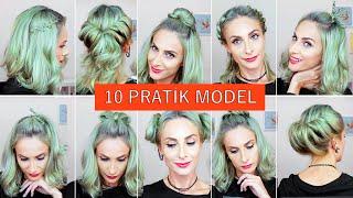 Isısız 10 Saç Modeli OKULA DÖNÜŞ  | 10 Heatless Hairstyles for BACK TO SCHOOL | Sebile Ölmez