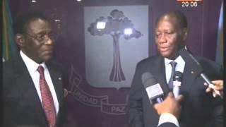 New York: le Président Ouattara reçoit son homologue equato-guinéen Obiang Nguema