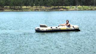 Intex Excursion 5 Inflatable boat on the water