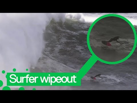 Surfer Rescued After Massive Wipeout In Portugal