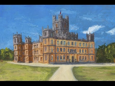 Palette Knife Painting of Highclere Castle