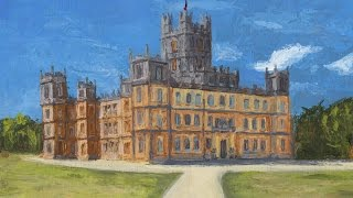 Palette Knife Painting of Highclere Castle (Narrated)