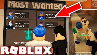 ARRESTING CRIMINALS WITH THE HIGHEST BOUNTIES IN JAILBREAK (Roblox)