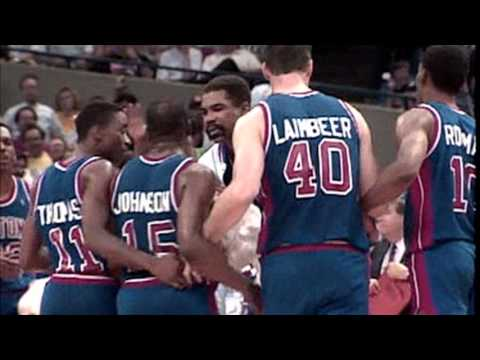 detroit pistons bad boy fights - YouTube