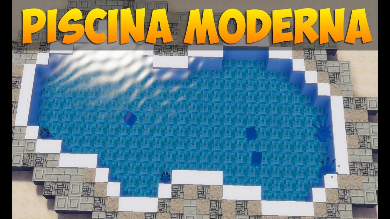 Minecraft tutorial como fazer uma piscina moderna youtube for Piscinas modernas