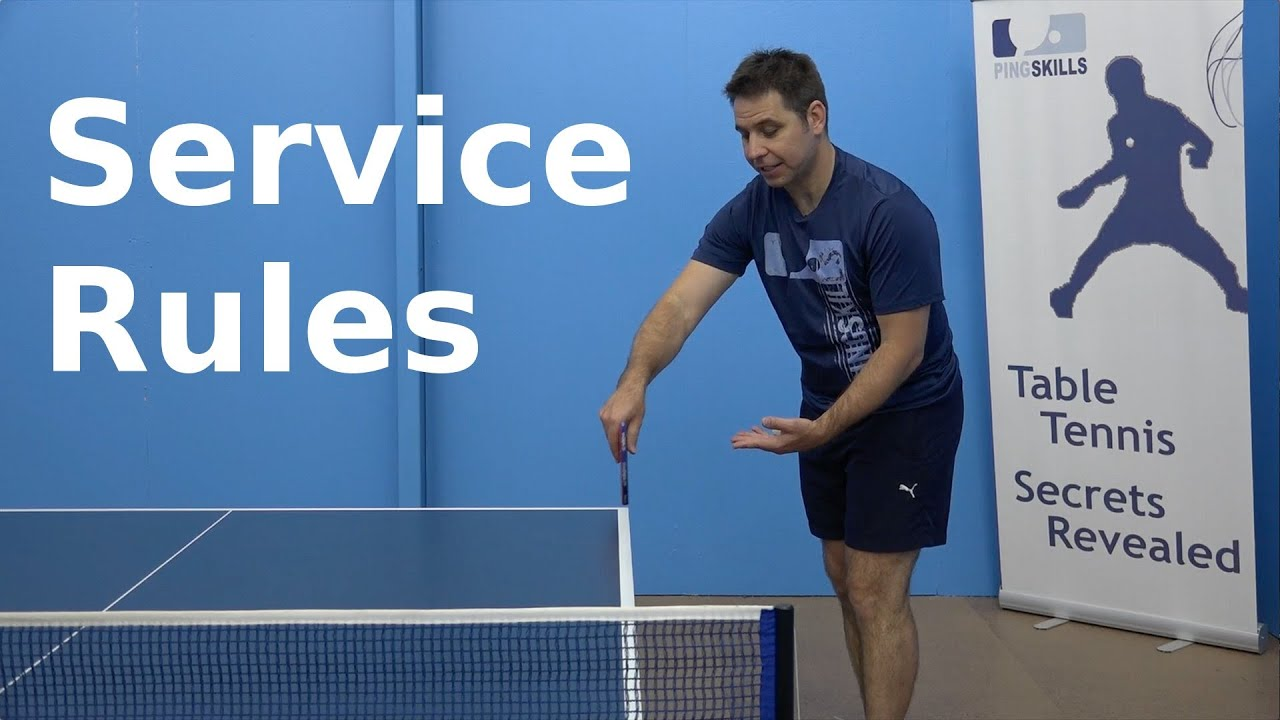 Service Rules Pingskills Table Tennis