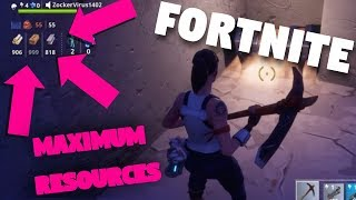 MAX RESOURCES CHALLENGE! (Fortnite Battle Royale)