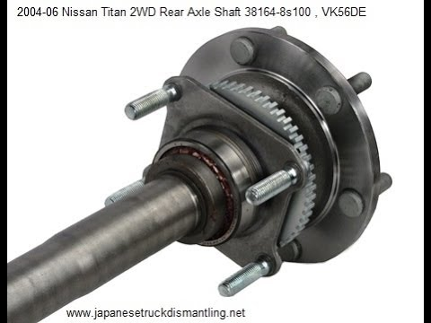 How to change rear differential seal on Nissan Titan 04 - YouTube