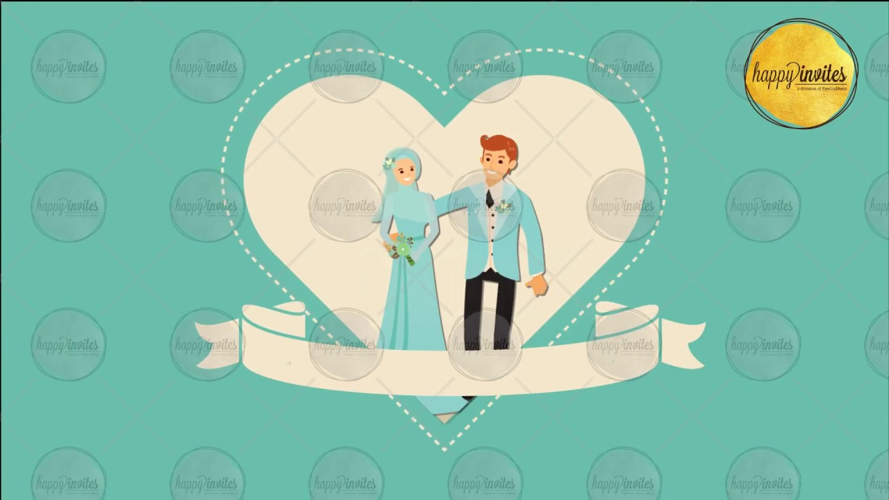Muslim Islamic Couple Engagement Wedding Nikaah Save The