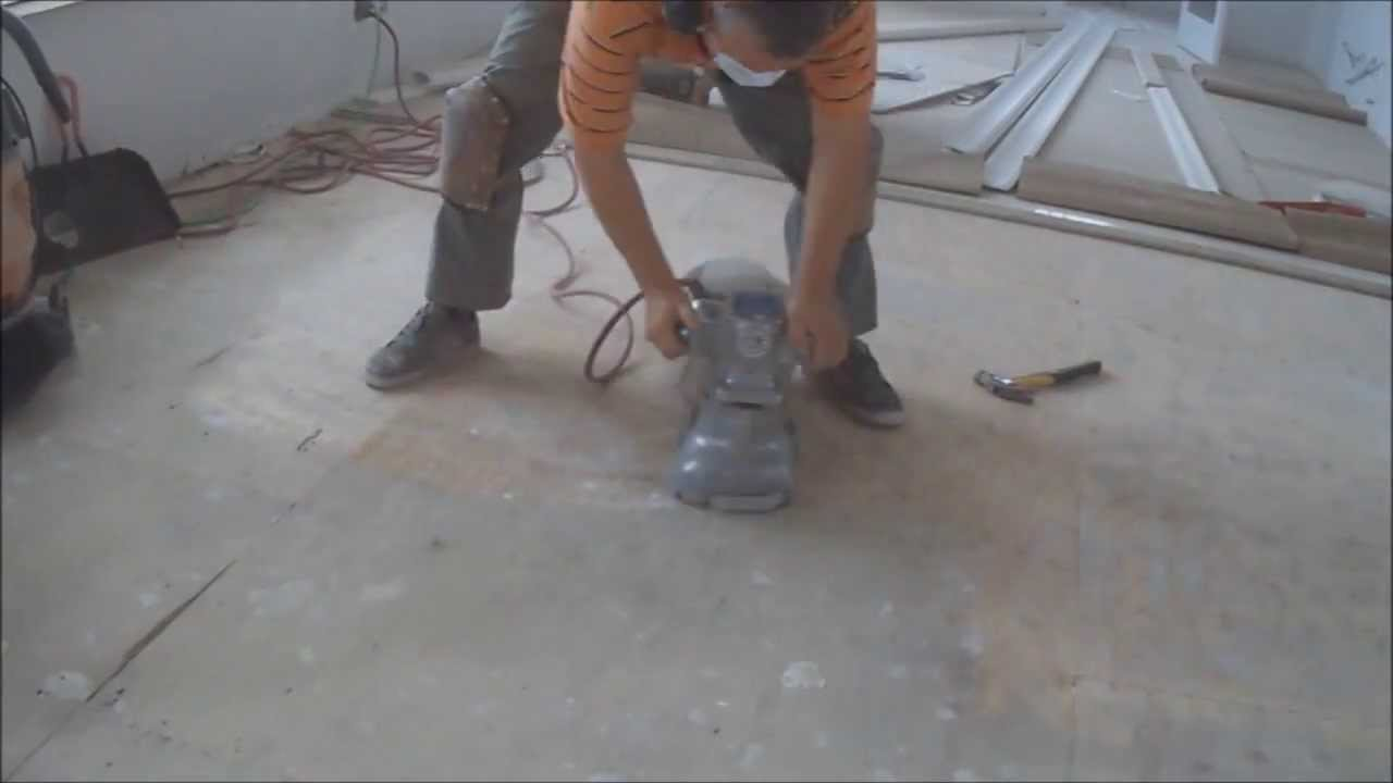 How To Leveling Plywood Subfloor With A Wood Floor Edger - Subfloor leveling techniques