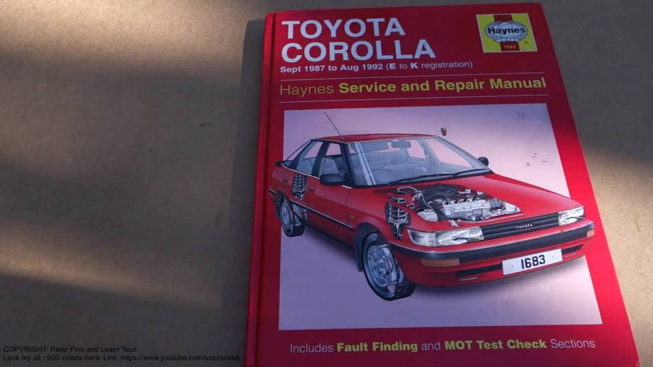 service and repair manual review toyota corolla 1987 to 1992 [ 1280 x 720 Pixel ]