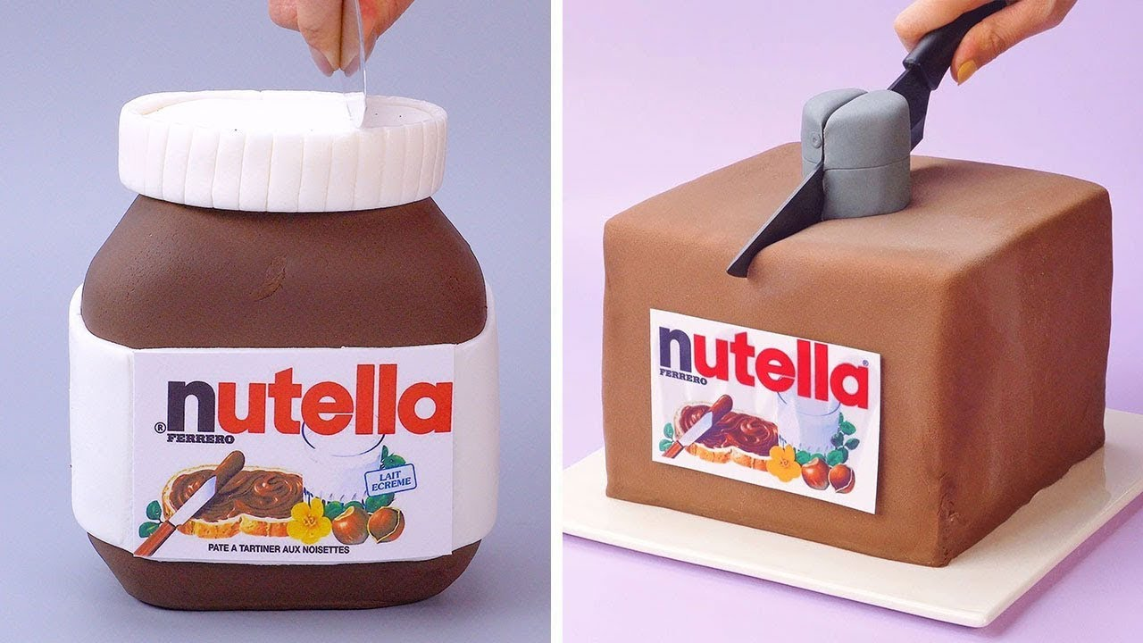 NUTELLA Chocolate Cakes Are Very Creative And Tasty | Most Satisfying Chocolate Cake Tutorials