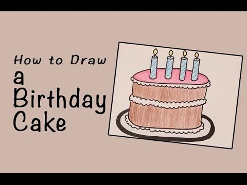 how to draw apolice birthday cake