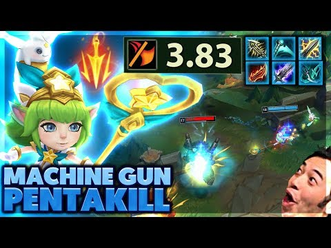 BEST MACHINE GUN LULU GAME EVER   MY EDITORS START A WAR   PENTAKILL LULU - BunnyFuFuu