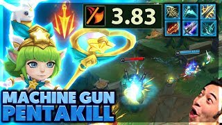 BEST MACHINE GUN LULU GAME EVER | MY EDITORS START A WAR | PENTAKILL LULU - BunnyFuFuu
