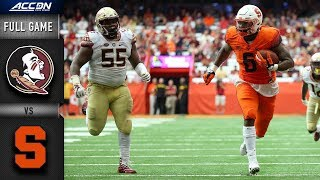 Florida State vs Syracuse Full Game | 2018 College Football