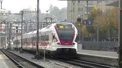 Trafic ferroviaire à Lucerne Bahnhof le 20 octobre 2015