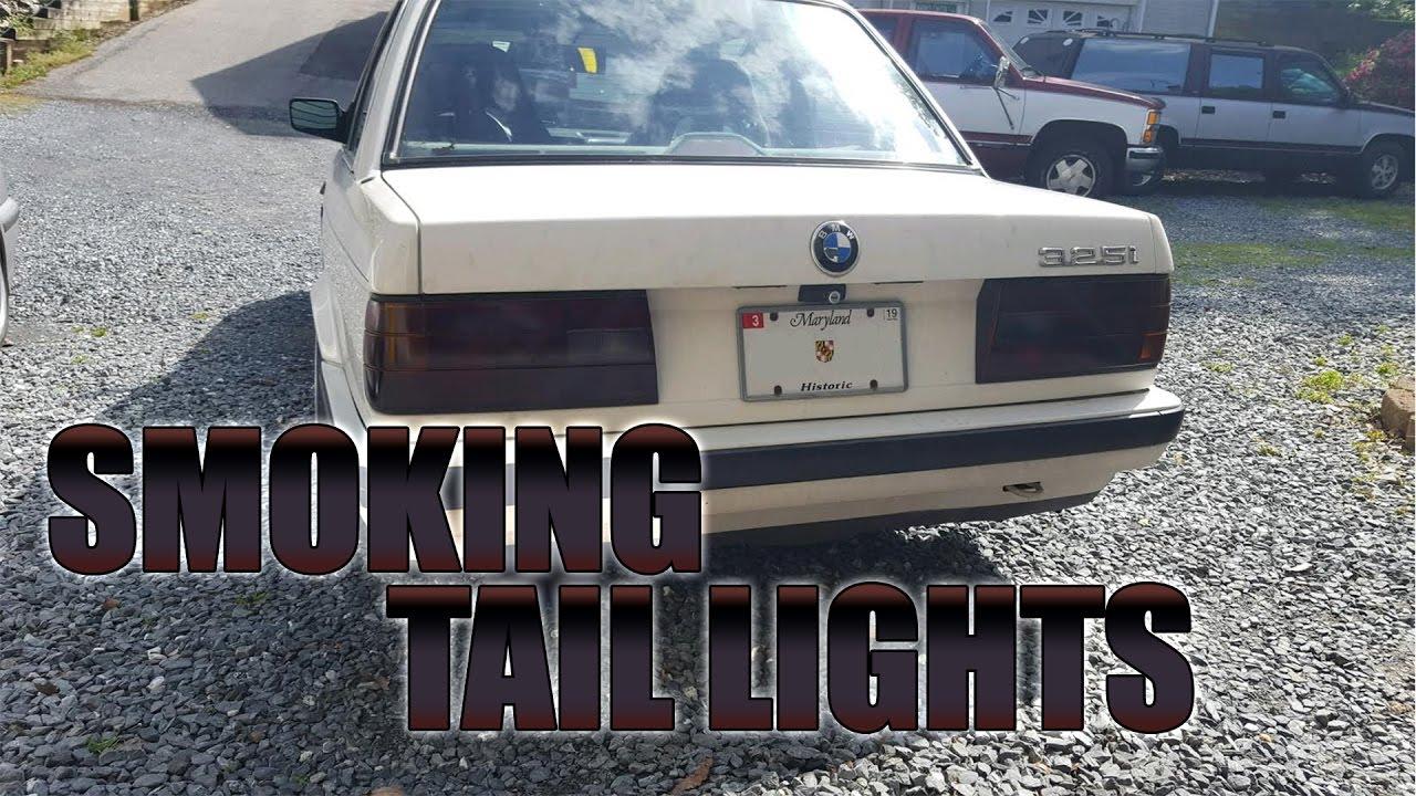 How To Smoke Tail Lights (BMW E30)