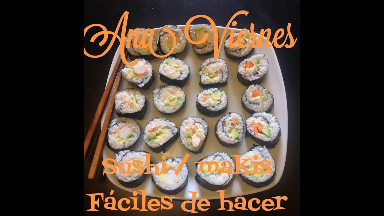 Como Hacer Sushi Casero Facil Y Rapido Camaron Y Cangrejo