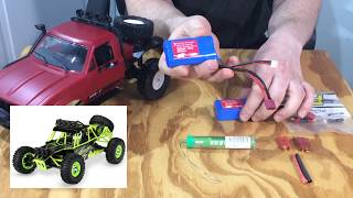 WPL C14 RTR - LIPO battery Upgrade FAIL and top speed run(stock)