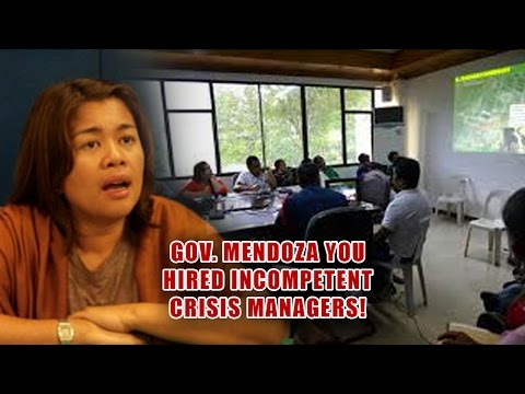 GOV. MENDOZA, WANNA KNOW TRUE MEANING OF CRISIS MGT?