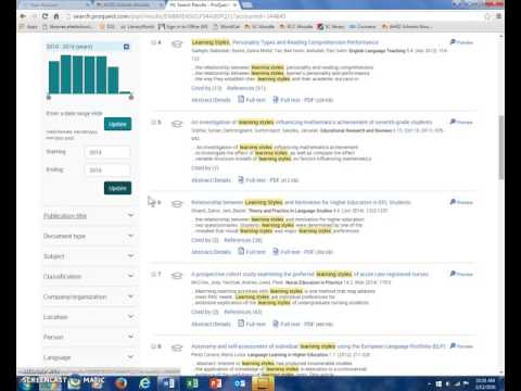 Basic Search   ProQuest  Video