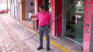 Carlos Trigo cobra providências quanto a fio caído no Centro
