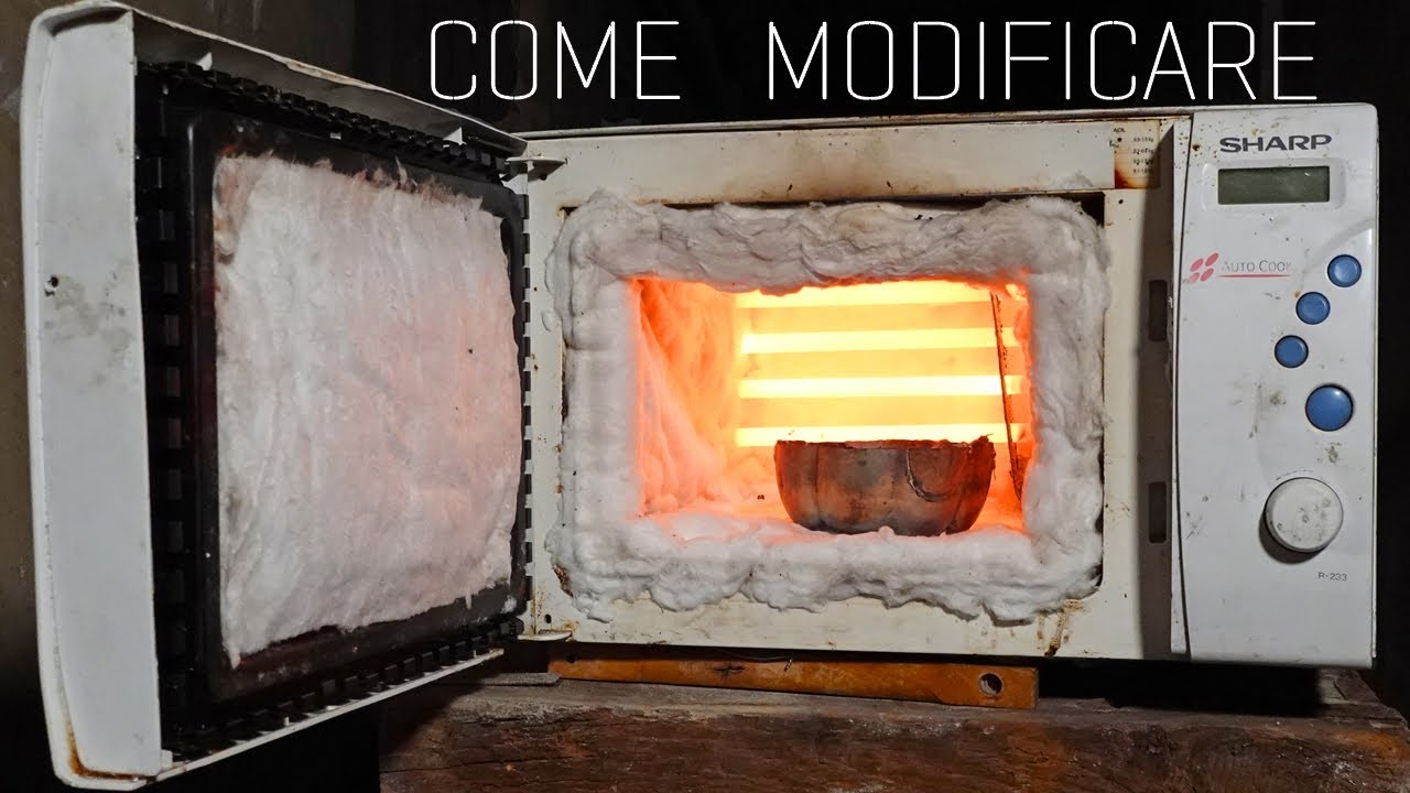 Forno a microonde per fondere metalli fai da te youtube - Mobiletto per forno microonde ...