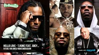 T. Rone Ft. Juicy J, Jim Jones, Fat Joe & Raheem DeVaughn -- Hello Love (Remix)