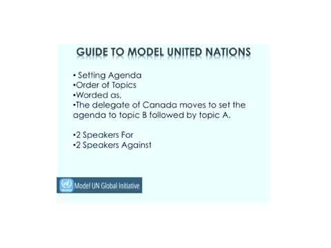 Model UN Rules and Procedure
