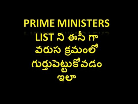 Learn list of all Indian Prime Ministers in an order