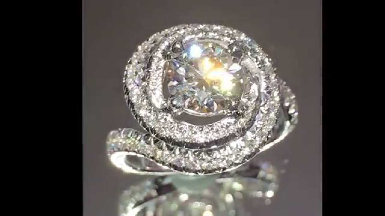 Cartier Design 2 40 ctw Round Diamond Engagement Ring   YouTube