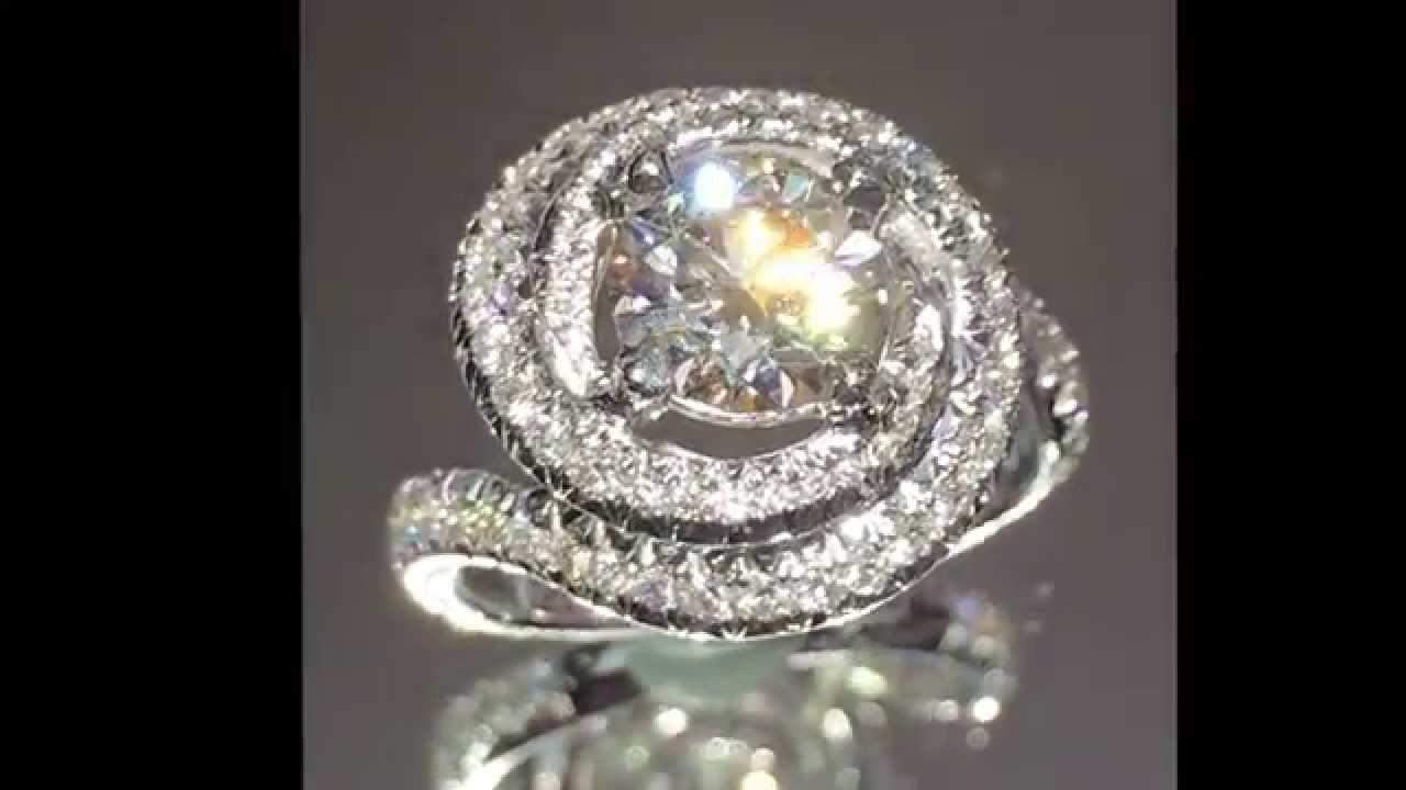 Cartier Design 2 40 Ctw Round Diamond Engagement Ring Youtube