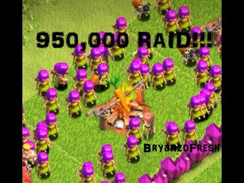 Clash of Clans 950,000 Raid Tier One Troops