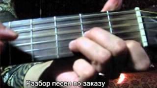 Урок на гитаре разбор песни Змея. Виктория Юдина