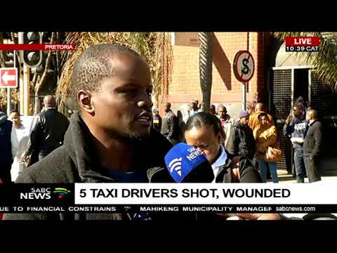 5 taxi drivers shot, wounded in Pretoria