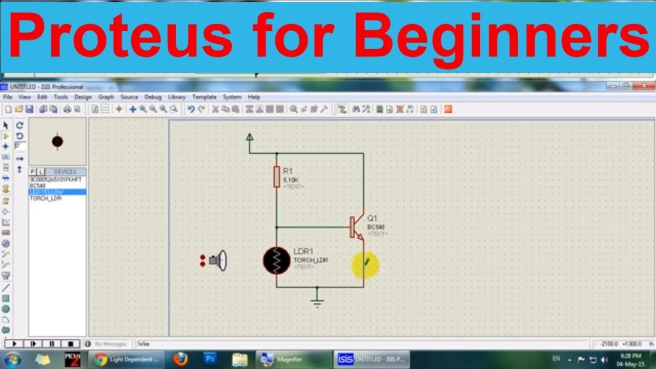 Proteus Isis Circuit Simulation Tutorial Part 1 Youtube Design Software