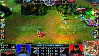 Velocity eSports (VES) vs Team Solomid (TSM) || Super week NA LCS Summer 2013 W9D1 || Full Game HD