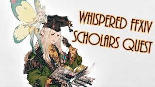 ASMR Final Fantasy XIV Gameplay: Scholar Quests 🎮 Whispers, Controller sounds