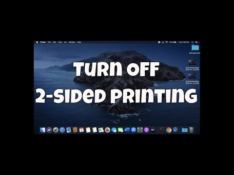 #Mac How to disable 2-sided printing on Mac!!!
