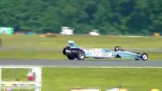 Jet Car Races Airplane