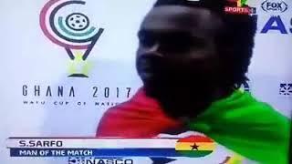 Stephen Sarfo - post match interview at WAFU Ghana 2017 final