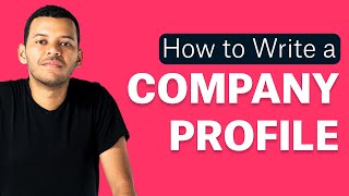 What is a Company Profile: the first company presentation you should design