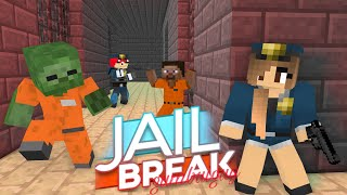Monster School JAILBREAK CHALLENGE Minecraft Animation
