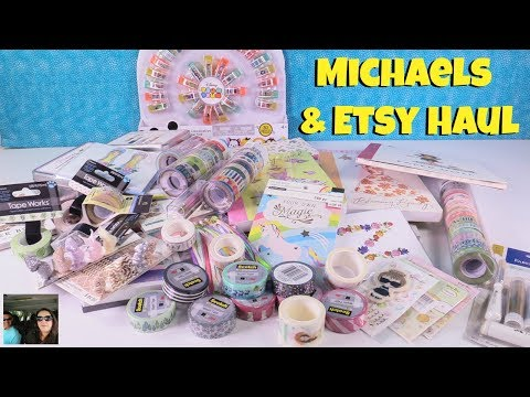 Michaels Craft Haul Washi Journals Stickers Paper & New Plan