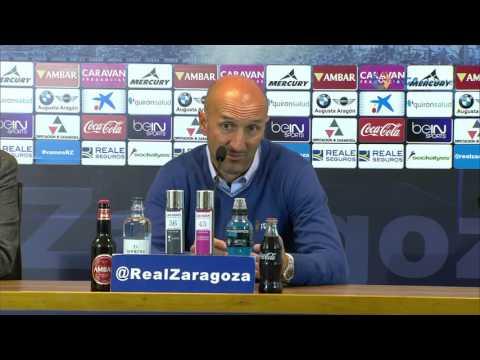 Rueda de prensa de Ranko Popovic tras el Real Zaragoza (1-0) Deportivo Alavés