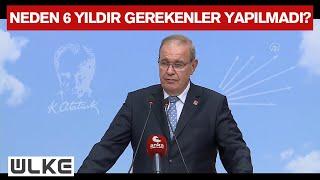 CHP Genel Başkan Yardımcısı Ve Parti Sözcüsü Faik Öztrak, Basın Toplantısı Düzenledi