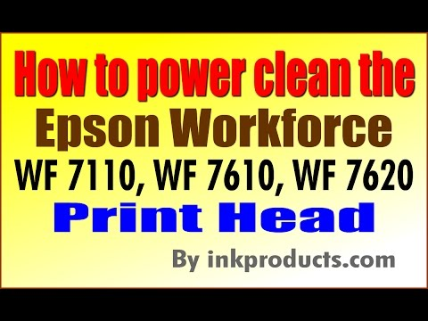 How to clean the Epson Workforce WF 7110, WF 7610, WF 7620, WF 3620, WF 3640